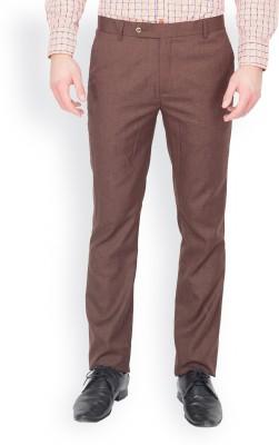 Perch Slim Fit Men's Maroon Trousers