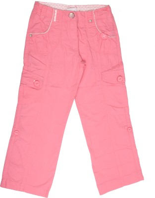 Coffee Bean Regular Fit Girl's Pink Trousers