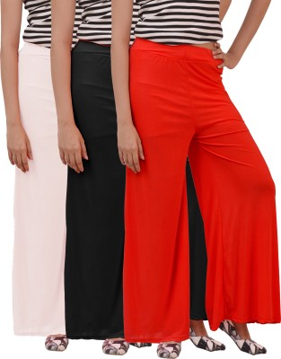 Ace Regular Fit Women's Black, White, Red Trousers