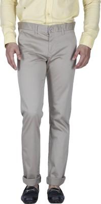 Integriti Slim Fit Men's Beige Trousers