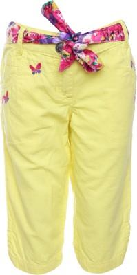UFO Girl's Yellow Capri