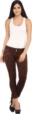 Lotus Skinny Fit Women's Brown Trousers