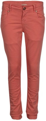 Gini & Jony Slim Fit Girl's Pink Trousers
