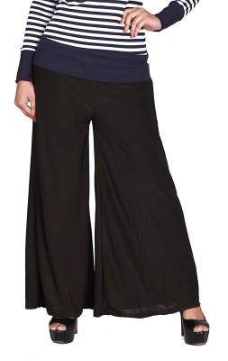 Jugniji Slim Fit Women's Black Trousers