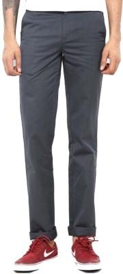 Good Karma Slim Fit Men's Grey Trousers