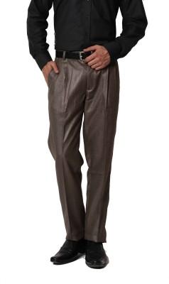 PraadoFashion Regular Fit Men,s Brown Trousers