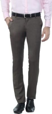 Hideouts Regular Fit Men's Brown Trousers