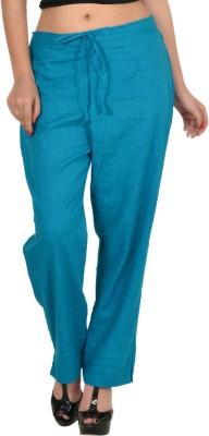 Zaributi Regular Fit Women's Light Blue Trousers at flipkart