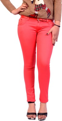 Cws Fashion Slim Fit Women's Orange Trousers