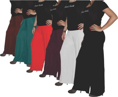 Xarans Regular Fit Women's Brown, Green, Orange, Red, White, Black Trousers