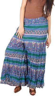 Vedic Regular Fit Women's Blue Trousers