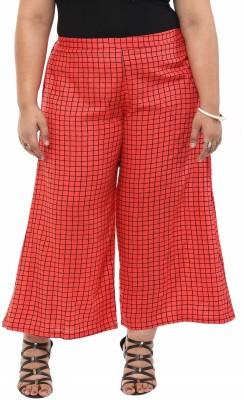 kira plus Regular Fit Women's Pink Trousers
