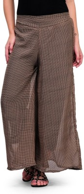 Kiosha Regular Fit Women's Brown Trousers