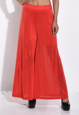 Sohniye Regular Fit Women's Red Trousers