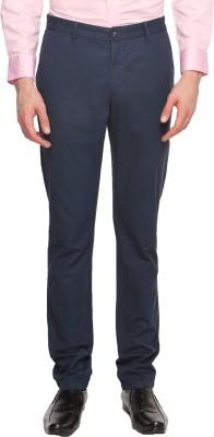 Arrow Sports Slim Fit Men's Blue Trousers