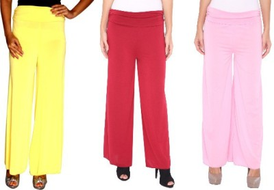Zadine Regular Fit Women,s Yellow, Red, Pink Trousers