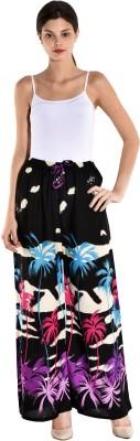 Saffron Craft Regular Fit Women's Black Trousers