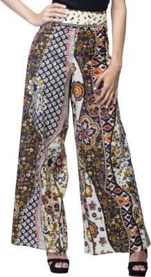 Lambency Slim Fit Women's Multicolor Trousers