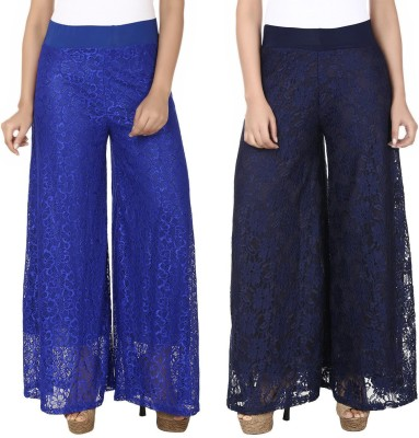 Guru Nanak Fashions Regular Fit Women's Blue, Blue Trousers