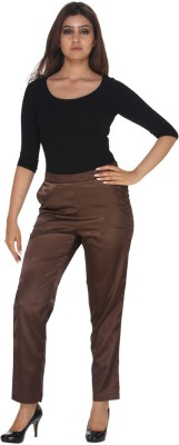 Fast n Fashion Regular Fit Women's Brown Trousers