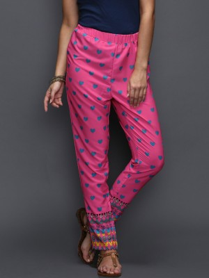 Anouk Regular Fit Women's Pink Trousers