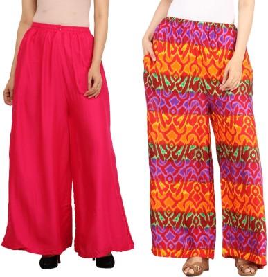 Guru Nanak Fashions Regular Fit Women's Pink, Multicolor Trousers