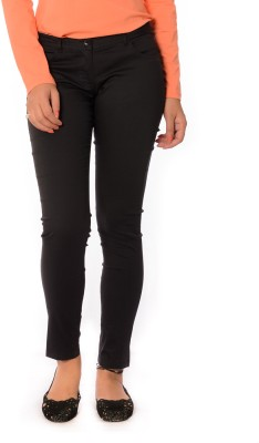 Oviya Skinny Fit Women's Black Trousers