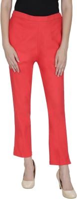 Secret Wish Regular Fit Women's Red Trousers