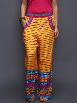 Anouk Regular Fit Women's Yellow Trousers