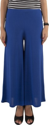 Vostro Moda Regular Fit Women's Blue Trousers