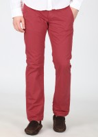 Breakbounce Regular Fit Mens Red Trousers