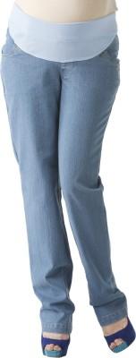 Morph Maternity Regular Fit Women's Denim Blue Trousers