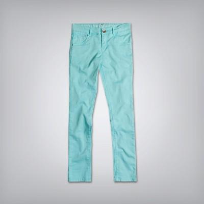 Gini & Jony Slim Fit Girls Blue Trousers