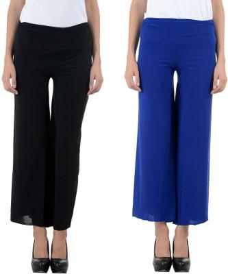 Unitedway Regular Fit Women's Blue Trousers