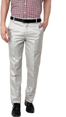 Zaab Regular Fit Men,s Grey Trousers