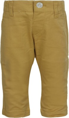 Jazzup Regular Fit Baby Boy's Beige Trousers