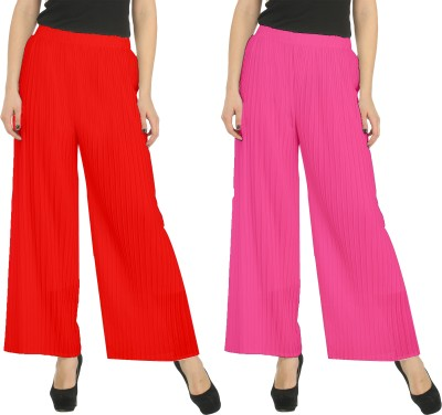 Civilized Showdown Regular Fit Women's Red, Pink Trousers