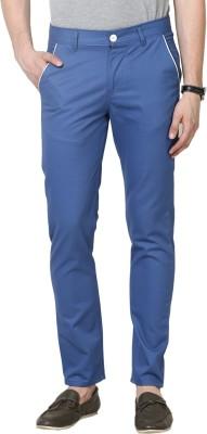 Hubberholme Slim Fit Men's Blue Trousers