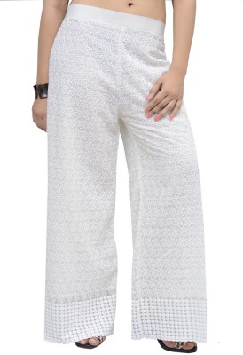 Charu Boutique Regular Fit Women's White Trousers