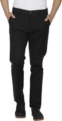 Febulous Slim Fit Men's Black Trousers