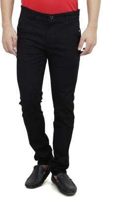 Savon Slim Fit Men,s Black Trousers