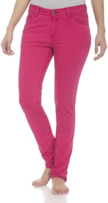 Clodentity Slim Fit Women's Pink Trousers