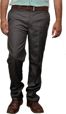 Desi Corporate Slim Fit Men's Brown Trousers