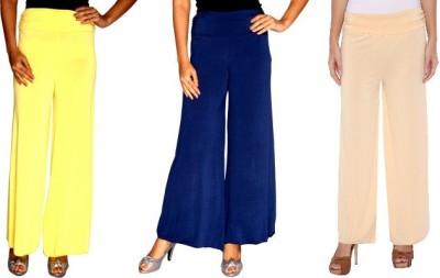 Zadine Regular Fit Women,s Yellow, Dark Blue, Beige Trousers