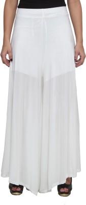 Both11 Regular Fit Women's White Trousers