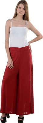 NumBrave Regular Fit Women's Maroon Trousers