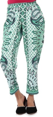 Oxolloxo Regular Fit Girl,s Green Trousers