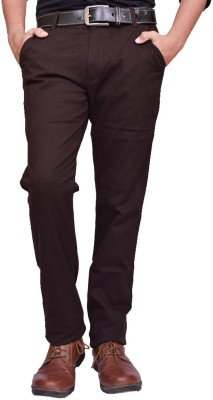 American Noti Slim Fit Mens Brown Trousers