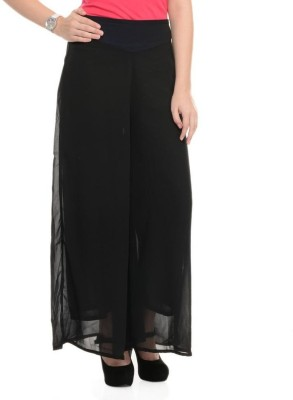 Kyron Regular Fit Women,s Black Trousers