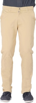 AUSSUM Regular Fit Men's Beige Trousers